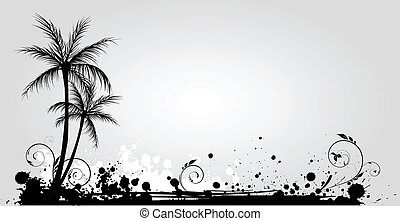 דקל, גראנג, עצים, רקע