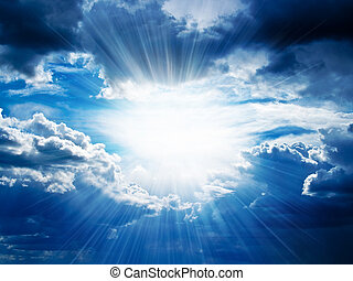 דרך, שובר, קרנות, עננים, אור שמש