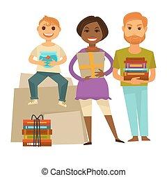 האוסאווארמינג, משפחה, הפרד, דוגמה, מתנות, מפלגה