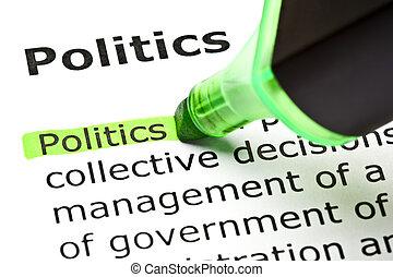 הבלט, 'politics', ירוק