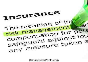 הבלט, 'risk, management', 'insurance', מתחת
