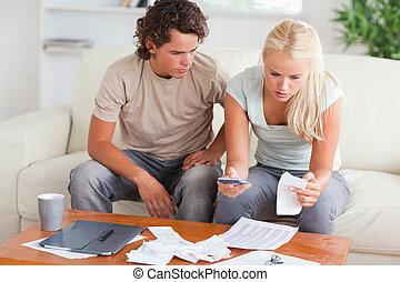 הדהם, הוצאות, קשר, שלהם, לחשב