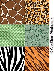 הדפס, תבניות, seamless, בעל חיים