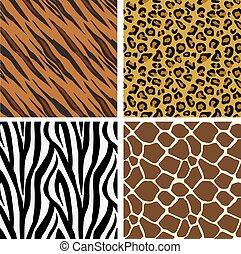 הדפס, תבנית, אריחים, seamless, בעל חיים