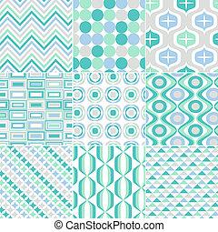 הדפס, תבנית, seamless, ראטרו