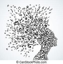 הובל, התז, מוסיקה רואה, אישה
