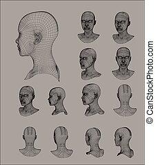 הובל, וויראפראם, דוגמה, וקטור, דגמן, 3d