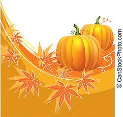 הודיה, רקע, וקטור, pumpkins.