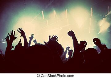 הופעה, אנשים, בציר, מוסיקה של דיסקוטק, מפלגה.