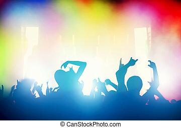 הופעה, אנשים, מועדון, דיסקוטק, לילה, כיף, מפלגה., בעל