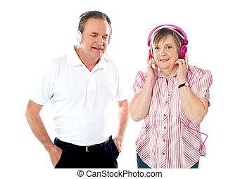 הזדקן, קשר, ביחד, מוסיקה, להנות, שמח