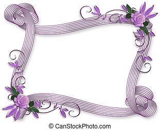 הזמנה, חתונה, גבול, אזובין, ורדים