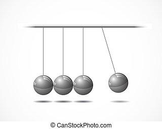 החזק, לאזן, כדורים של ניוטון