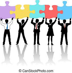 החזק, עסק של אנשים, בלבל, התחבר, פתרון