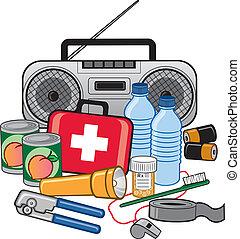 הישרדות, דריכות, חירום, מערכת כלים