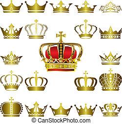 הכתר, קבע, טיארה, איקונים