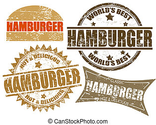 המבורגר, בולים