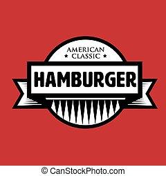 המבורגר, קלאסי, ביל, בציר, -, אמריקאי