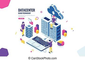הנדס, דירה, איזומטרי, מחשב, רכז, לעבוד אנשים, צבע, חדר, קיבוצי, לחשב, ביחד, שרת, וקטור, שיתוף פעולה, נתונים, ענן, בטחון