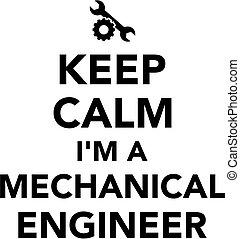 הנדס, מכני, דממה, החזק