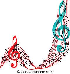 הסגר, illu, מוסיקלי, רקע, תימה, וקטור, מוסיקה, אופנתי, רואה