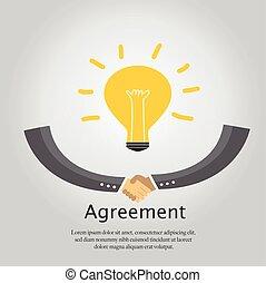 הסכם, handshake., עסק