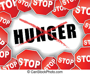 העצר, רעב