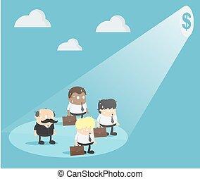 הפנט, כסף, איש עסקים