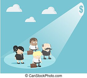 הפנט, קבץ, אנשי עסקים, כסף