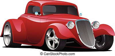 הפרד, מכונית, מוט, וקטור, דוגמה, חם, מנהג, אמריקאי