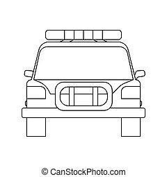 הפרד, page., רקע., תאר, הבט, לבן, חזית, מכונית, לצבוע, משטרה