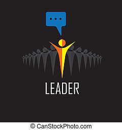 הצלחה, -, מנצח, icons., וקטור, הנהגה, מנהיג