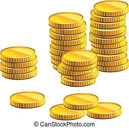 הרבה, מטבעות, זהב