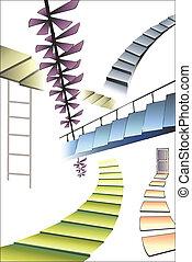 הרבה, שונה, מדרגות