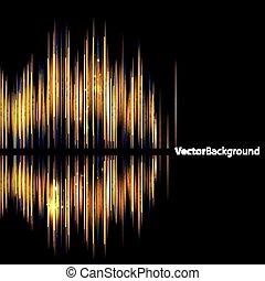 השמע, תקציר, waveform., background-shiny