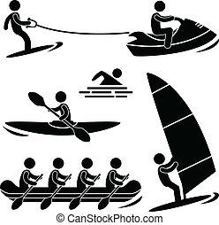 השקה, skurfing, ספורט, ראפטינג, ים