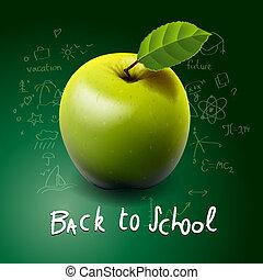 השקע, שולחן, תפוח עץ ירוק, בית ספר