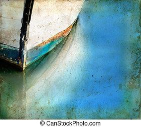 השתקפויות, גראנג, סירה, רקע, כרע
