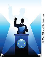 התאחדות, לתת, נאום, ביים, מנהיג, אירופאי