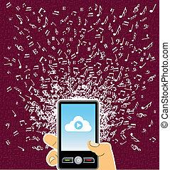 התז, מוסיקה, העבר, טלפן, חכם, בן אנוש, רואה