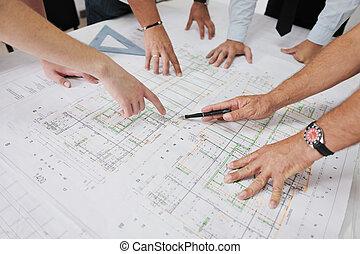 התחבר, אדריכלים, אתר, בניה