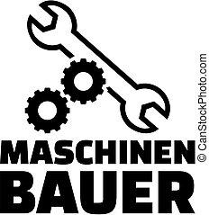 התכונן, גרמני, title., wrench., עבודה, מכני, גלגלים, הנדס
