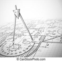 התכנן, אדריכלי, מצפן