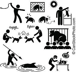 התעלל, אכזריות, בן אנוש, בעל חיים