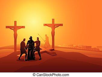 התפשט, שלו, ישו, בגדים
