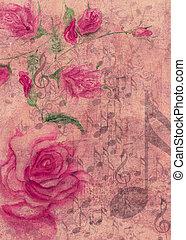 וואטארכולור, ורדים, רואה, מוסיקה