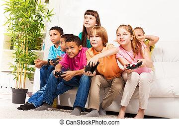 וידאו, אינטנסיבי, משחק, ידידים