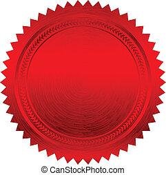 וקטור, דוגמה, אדום, אטום
