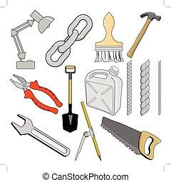 וקטור, דוגמות, שונה, קבע, כלים