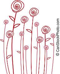 וקטור, ורדים אדומים